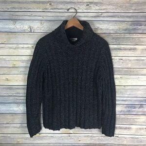 Sundance Chunky Grey Turtleneck Sweater