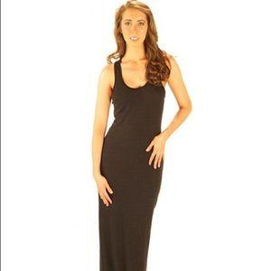 Long black dress xs nation
