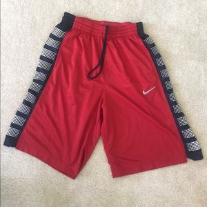 Nike Other - Nike Elite Dri-Fit basketball shorts, red/navy, L