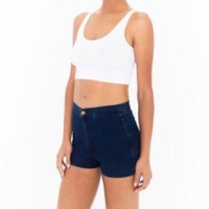 American Apparel high waisted jean shorts
