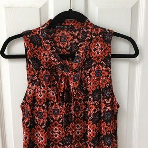 Modcloth Tops - Tile print tie neck tunic.