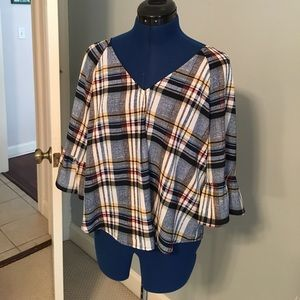 skies are blue Tops - Plaid top
