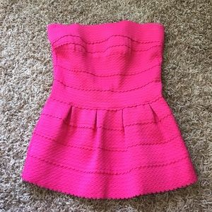 Francesca's Bright pink tube top