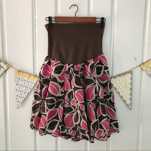 Leaf Pattern Motherhood Maternity Skirt
