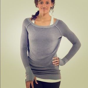 lululemon athletica Sweaters - Knit reversible Lululemon off shoulder top