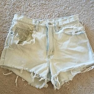 """Guess Pants - VINTAGE GUESS DESTROYED JEAN SHORTS..28""""W"""