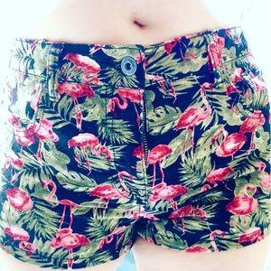 Denim shorts Pink flamingo 28 High waisted 5 6 Med