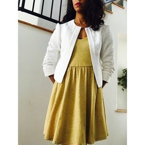 Mac & Jac White Blazer Dress Coat