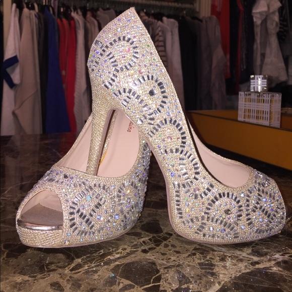 a983921a26 lauren lorraine Shoes - Lauren Lorraine Elissa 2 crystal champagne pumps