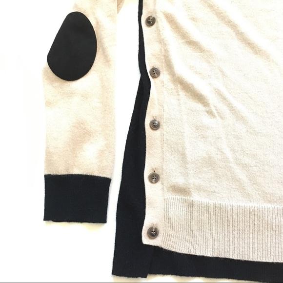 Jcrew Factory Colorblock Elbowpatch Sweater in