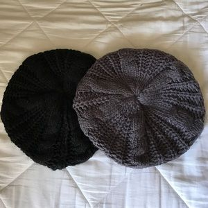 Accessories - 1 black and 1 gray beanie