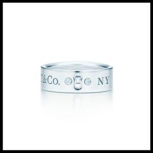 Tiffany & Co. Jewelry - Tiffany & Co. Diamond Keyhole Ring in Box