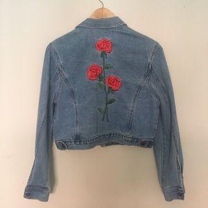 Vintage Rose Embroidered Jacket