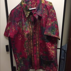 vintage mens indian inspired shirt