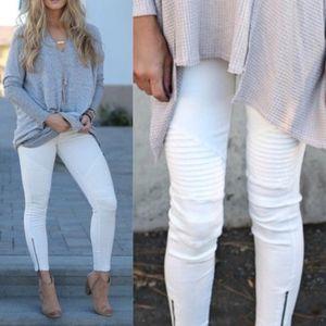 JACKIE Stretchy Pants - WHITE