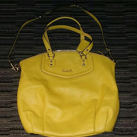 efcc80107d Coach Bags | Yellow Leather Purse | Poshmark