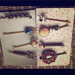 Anthropologie Accessories - NWT anthropologie hair pins Bobbi rhinestone set