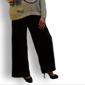 Pants - Black cheesecloth pants