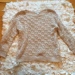 Kim Rogers Sweaters - Beautiful tan and gold  sweater