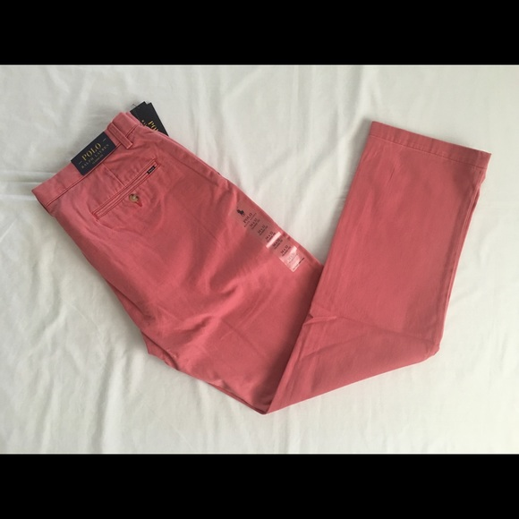 $85 POLO RALPH LAUREN CLASSIC FIT CHINO PANTS NANTUCKET RED MEN NWT