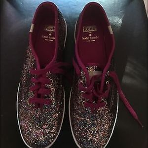 kate spade keds glitter sneakers
