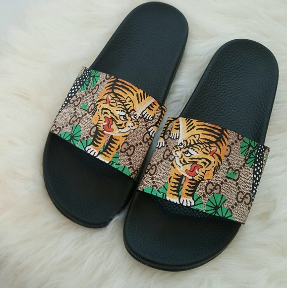 Gucci Shoes 1 Day Sale Authentic Bengal Tiger Slippers