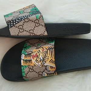 08e3b13e8 Gucci Shoes | 1 Day Sale Authentic Bengal Tiger Slippers | Poshmark