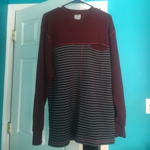 Tops - Long Sleeved Striped Sweater