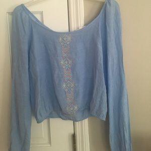 Tops - Light blue top!