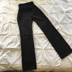 A Pea in the Pod Pants - A Pea In The Pod Secret Fit Belly Black Pants