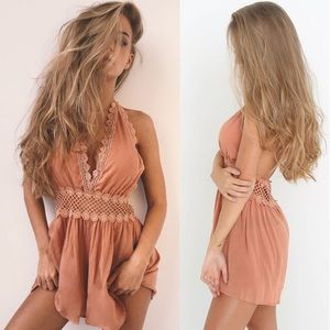 Other - Sexy Romper with flowers