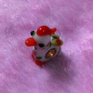 Chicken murano glass bead