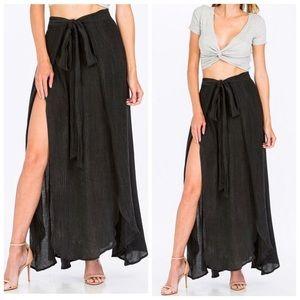 Dresses & Skirts - •LAST Dark Grey Double Slit Maxi Skirt (S)