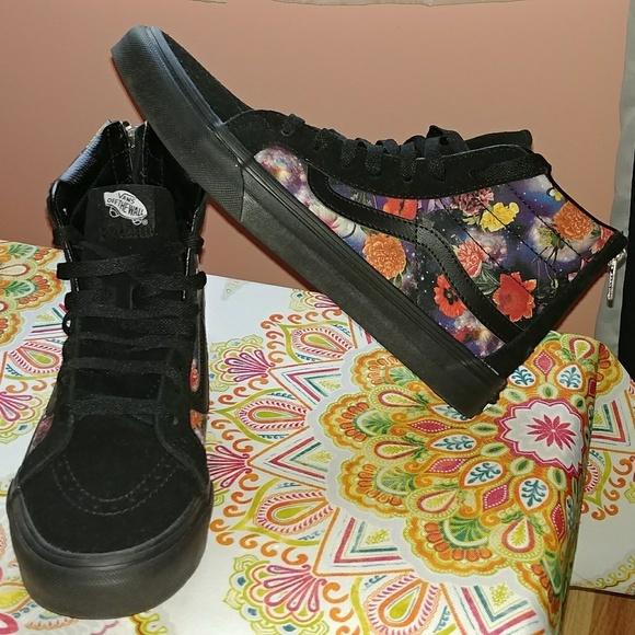 06d2464befa1db Vans Shoes - VANS SK8-HI SLIM ZIP Galaxy Floral - Women s 10.5