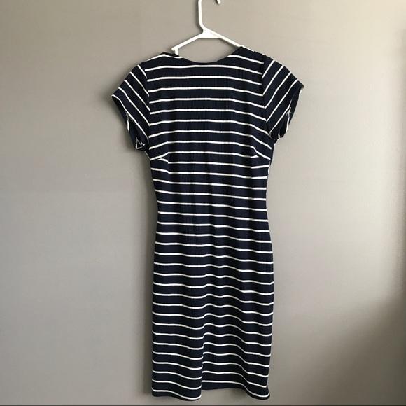 Routn Dresses - Knit Striped Dress
