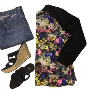Collective Concepts Tops - Floral panel baseball style raglan Nordstrom