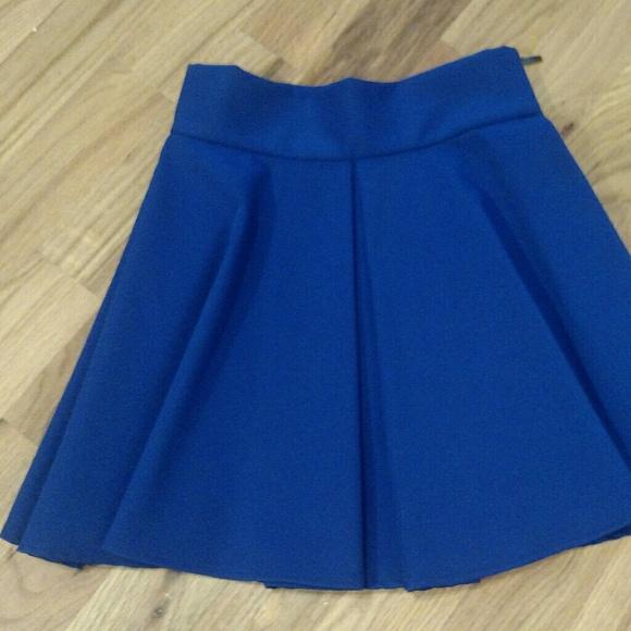 5504f0dd57 Skirts | Royal Blue Pleated Skirt | Poshmark