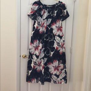 Hilo Hattie long cotton Muu muu maxi dress
