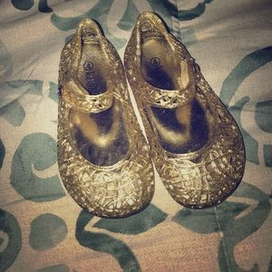 Gold jelly baby shoes
