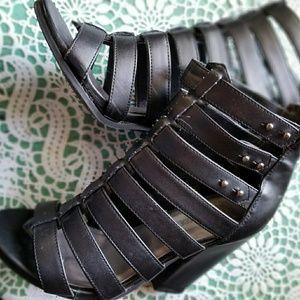 Steve Madden Shoes - Steve Madden Petra  Black Caged Heels