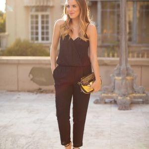 Express Black Sequin Jumpsuit