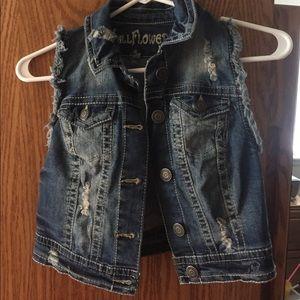 Short jean vest! Size medium