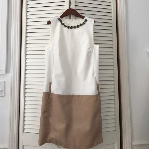 35403905 Zara Dresses | Rhinestone Necklace Pocket Two Tone Dress | Poshmark