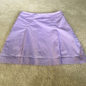 Stretch lavender pleated skirt