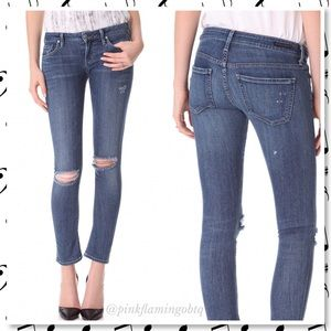 Citizens Of Humanity Denim - COH Racer Skinny Ripped Knees Jeans