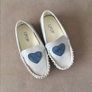 LPOP Denim Heart Loafer Infant Size 5