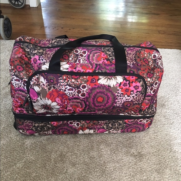 92370c26ce94 Vera Bradley rolling carry on duffel! M 5963afaf2de5120b5000a644. Other Bags  ...
