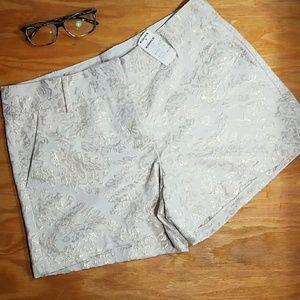 LC Lauren Conrad Pants - LC Lauren Conrad metallic gold brocade shorts
