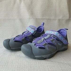 Teva Girls Size 2 Sandal Shoe Purple Grey