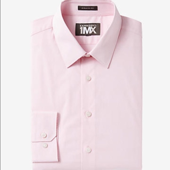 Express extra slim fit pink dress shirt from amaris 39 s for Best extra slim fit dress shirts